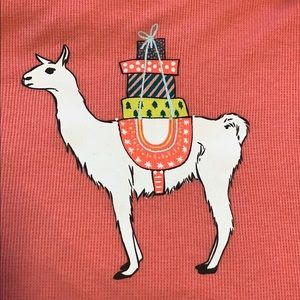 Old Navy Llama with Presents Lightweight Thermal
